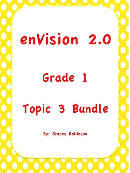 enVision Math 2.0 Topic 3, Bundle Grade 1