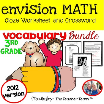 enVision Math 3rd Grade Common Core 2012  Vocabulary Activ