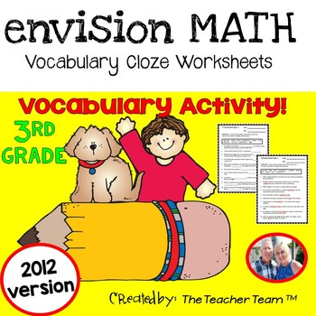 enVision 3rd Grade Common Core 2012 Cloze Worksheets Topics 1-16