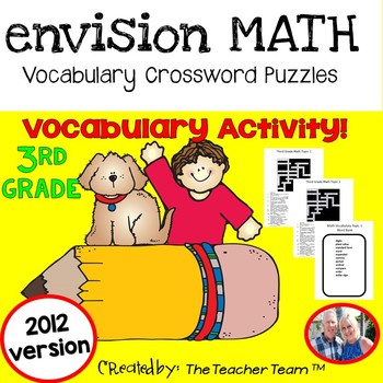 enVision Math 3rd Grade Common Core 2012 Crossword Puzzles