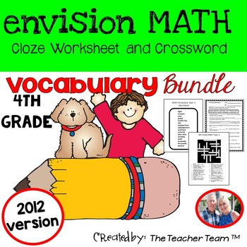 enVision 4th Grade Common Core 2012 Cloze & Crossword Puzz