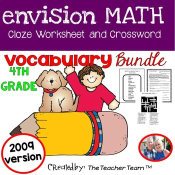 enVision Math Fourth Grade Vocabulary Activities Bundle