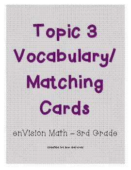 enVision Math - Subtraction Number Sense Matching/Vocabula