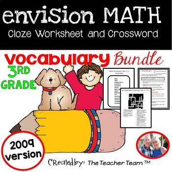 enVision Math Third Grade Cloze & Crossword Puzzle Vocabul