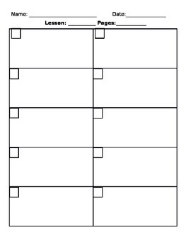 enVision Student Book Work Template