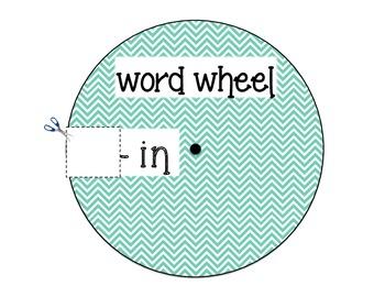 ending consonant blend word wheel