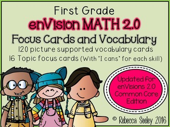 """envision 2.0 1st Grade-Focus """"I Can"""" Walls and Vocabulary Words"""