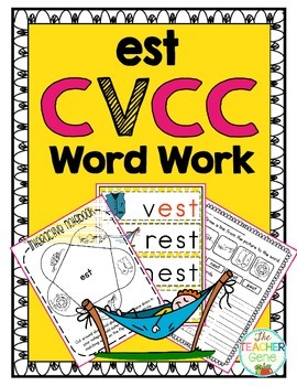 'est' Word Family CVCC Word Work
