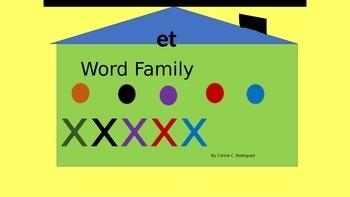 """""""et""""  Word Family"""