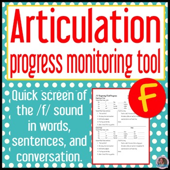 /f/ articulation baseline and end progress monitor
