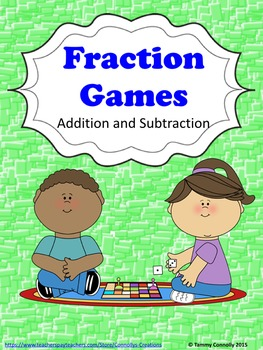 Fraction Games Sample: add and subtract fractions using di