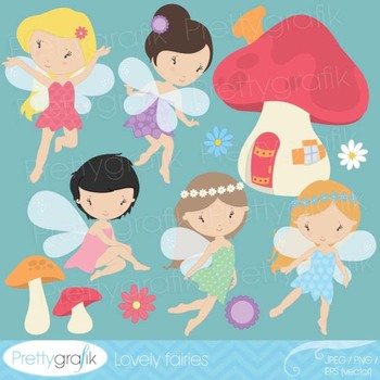 fairy clipart commercial use, vector graphics, digital cli