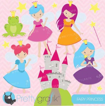 fairy princess clipart commercial use, vector graphics, di