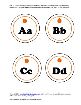 fall alphabet letters with bonus blank labels with bonus w