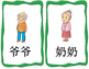 Mandarin family member flashcards big size and small size