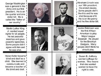 famous Americans flip book