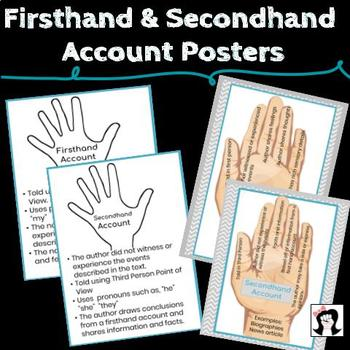 first hand second hand account posters