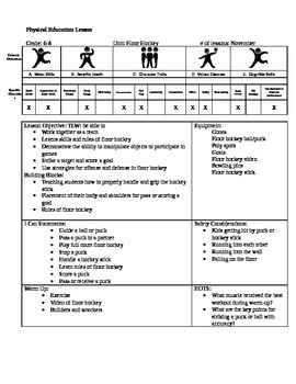floor hockey lesson plan