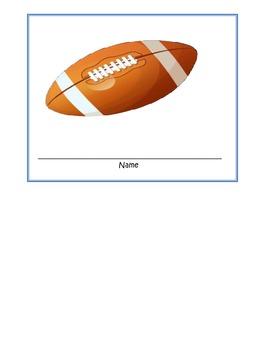 football themed name tags