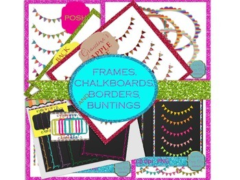 frames, borders, chalkboards, and buntings (BUNDLE)