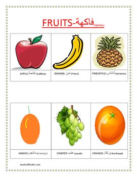 fruits in arabic