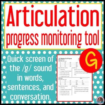 /g/ articulation baseline and end progress monitor
