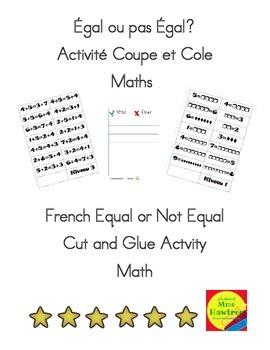 Égal ou pas Égal? Activité Coupe et Cole  Maths  Cut and G