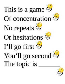 game rules poster for concentration
