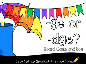 ge or dge? Phonics Literacy Center Aligned with the Orton-