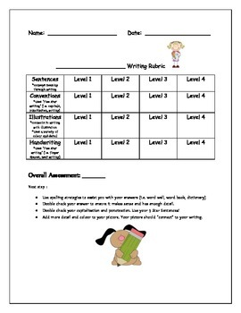 general writing rubric