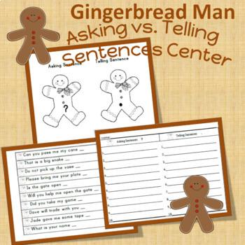 gingerbread asking vs. telling sentences center