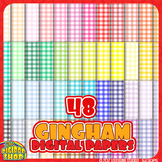 """gingham background in 48 colors// digital paper 12""""x12"""""""
