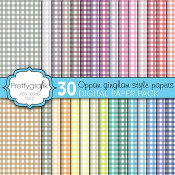gingham digital paper, commercial use, scrapbook papers, b