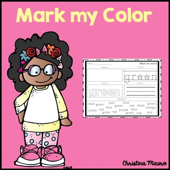 Mark My Word: Color Words