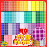 """grid paper in 48 colors// digital background 12""""x12"""""""