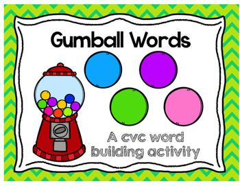 Gumball cvc words