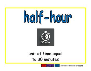 half-hour/media hora meas 2-way blue/verde