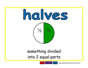 halves/mitades meas 2-way blue/rojo