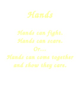 hands are for caring poster