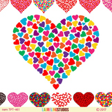 heart clipart for Valentines Day or commercial use