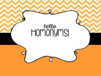 hello homonyms!