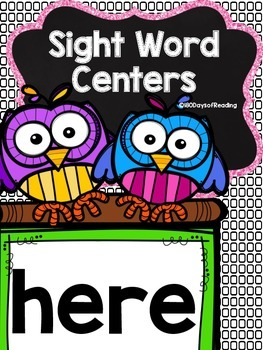 Sight Word Printable Center Activities :here