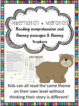 hibernation and migration fluency and comprehension levele