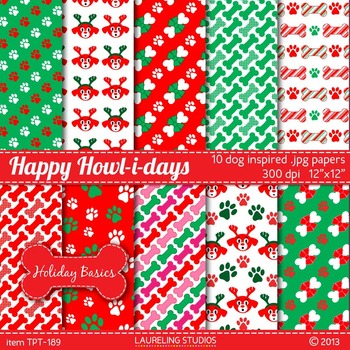 holiday digital paper with paw prints/dog/pet theme 10 .jp