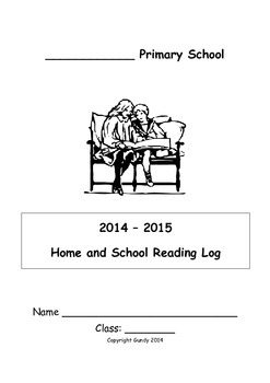 home reading log for home and school use