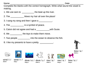 homographs fill in the blanks