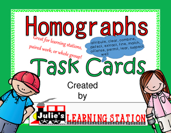homographs, task cards