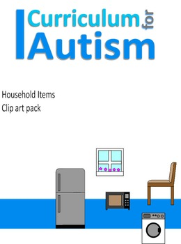 Household Items Clip Art 50 pictures for Autism & Special