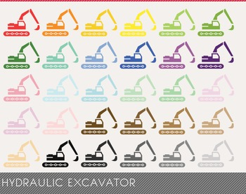 hydraulic excavator Digital Clipart, hydraulic excavator Graphics