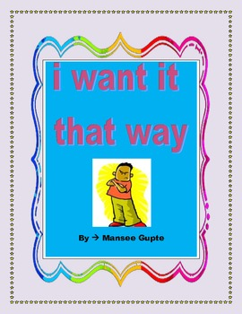 i want it that way- teaching discipline and organization skills